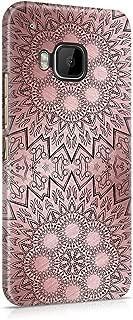 Rose Gold Ornamented Black Mandala Hard Plastic Phone Case For Htc One M9