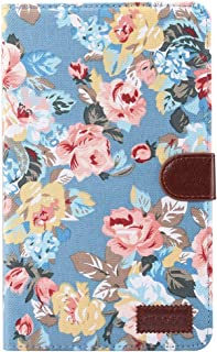 SHIHUI Phone Cases For Huawei MediaPad T3 8.0 inch Flower Pattern Cloth Surface Horizontal Flip Leather Protective Case with Holder & Card Slots & Wallet & Photo Frame (Color : Color2)