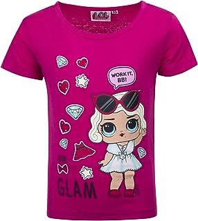Full Print Surprise! L.O.L Bambina T-Shirt Maglia Maglietta a Maniche Corte novit/à Prodotto Originale con Licenza Ufficiale SE629X