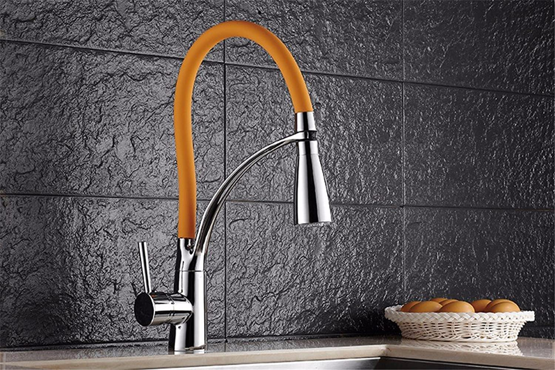 Bijjaladeva Wasserhahn Bad Wasserfall Mischbatterie WaschbeckenWarme und Kalte Küche Wasserhahn Ein Pull-Down-Hahn Kupfer Waschbecken mit Warmen und Kalten Temperatur Steuerung WA