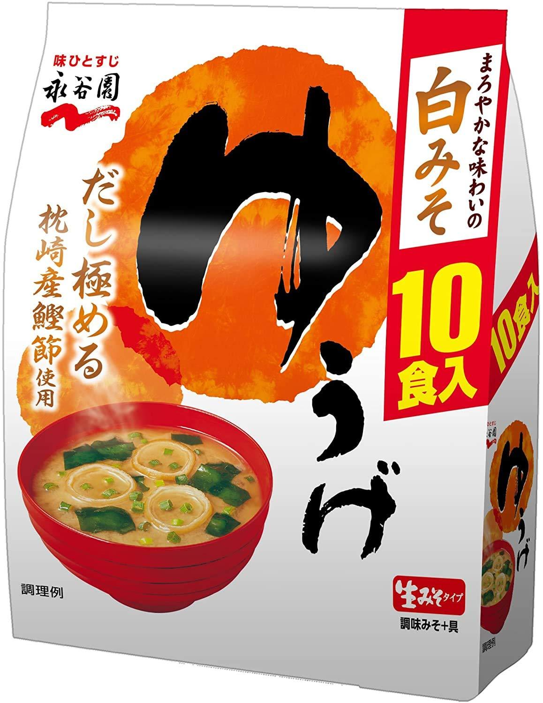 Yuge Dinner 10pcs online shopping 6.4oz Japanese Raw Soup Miso Instant Department store Naga Type