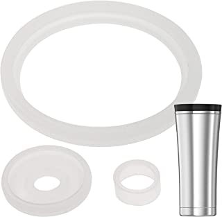 2 Sets of Thermos Sipp (TM) -Compatible 16 Ounce Travel Tumbler/Mug Gaskets/Seals by Impresa Products - BPA-/Phthalate-/Latex-Free - 2 Full Replacements Per Kit