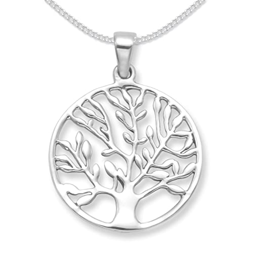 08394b41698 Sterling Silver Tree of Life Yggdrasil Pendant on Silver chain - SIZE   25mm. Tree