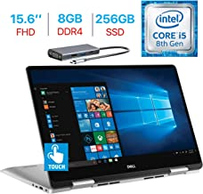 Dell Inspiron 7000 15.6-inch FHD IPS Touch 2-in-1 Laptop, Intel Quad Core i5-8265U Up to 3.9GHz, 8GB RAM, 256GB SSD, Backlit Keyboard, Fingerprint Reader, Bluetooth, USB-C, Windows 10 w/Type-C Hub