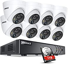 ANNKE 8-Channel 5MP Security DVR Recorder 1TB HDD and (8) 5MP CCTV PIR Cameras Surveillance System, H.265+ Compression, Sm...