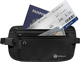 Money Belt for Travel RFID Blocking Running Pack Waist Pack Hidden Wallet Travel Wallet Security Money Belts for Men and Women