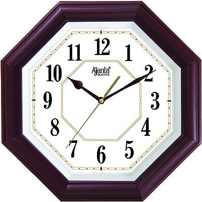 Ajanta Quartz Step Movement 10 Inches Wall Clock for Home(4057-Brown)