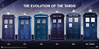 Culturenik Doctor Who Evolution of The Tardis Sci Fi British TV Television Show Print (Unframed 12x24 Poster)