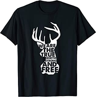 Canada True North Strong and Free T Shirt Deer Head Design