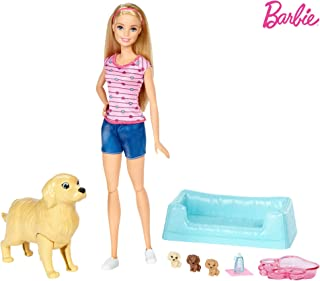 Barbie New-Born Pups Doll and Pet - 3 Years   Above