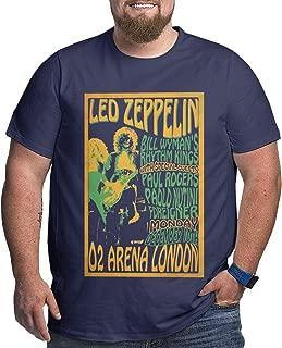 Cool Led_Zeppelin Plus-Size Mens Fashionable Short Sleeve T-Shirts