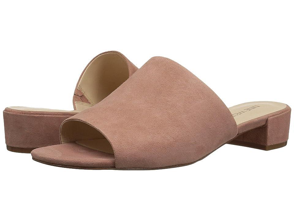 Nine West Raissa Slide Sandal (Dusty Coral Isa Kid Suede) Women