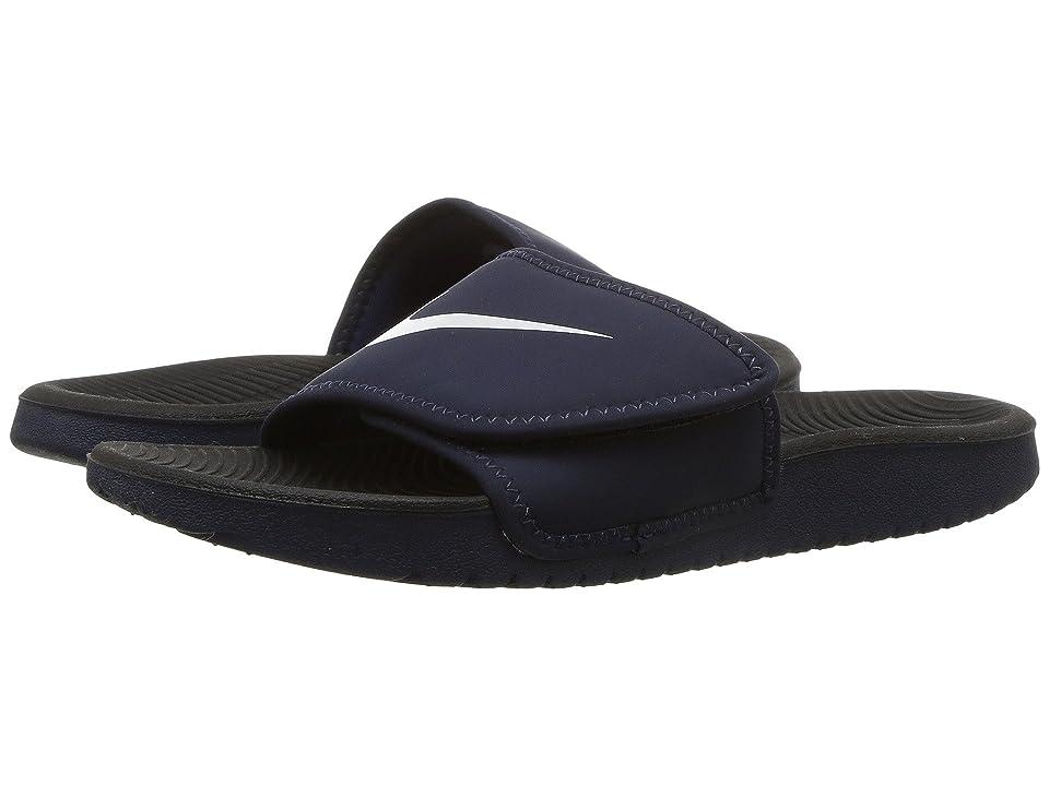 Nike Kids Kawa Adjust (Little Kid/Big Kid) (Obsidian/White) Boys Shoes