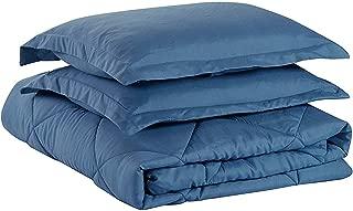 Chezmoi Collection 3-Piece Goose Down Alternative Comforter/Duvet Insert with Corner Tabs - All Season Hypoallergenic Comforter Set - Oversized King, Coronet Blue