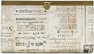 Newspaper Print Cauchy Wallet