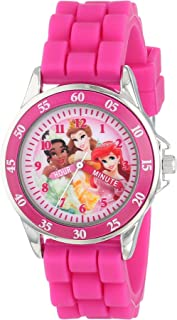 Kids' PN1048 Time Teacher Watch with Pink Rubber Band