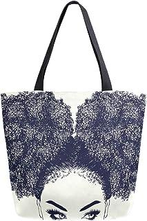 ALAZA Large Canvas Tote Bag Shopping Shoulder Handbag