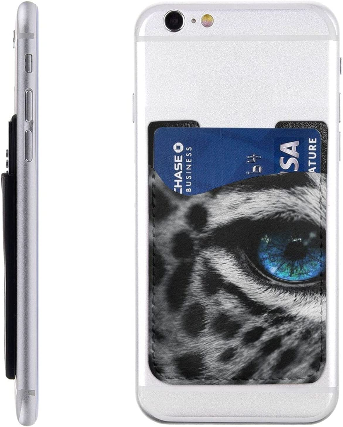 Snow Leopard Eye Phone Card Popular latest overseas Stick Holder Wall Cell On