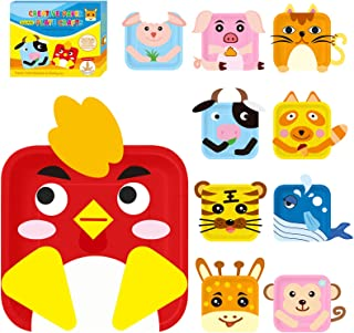 Craftoy Zoo Pals Paper Plate Art Kit for Toddler Children Zoo Pals Crafts for Toddler Crafts Art Supply Project Creative Toddler Preschool Arts Crafts