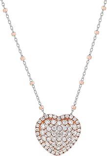 Olivia Paris 14k Rose Gold Diamond Heart Pendant Necklace (1 cttw, H-I, I1), 16-18