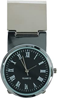 CTM Men's Money Clip with Round Watch Face