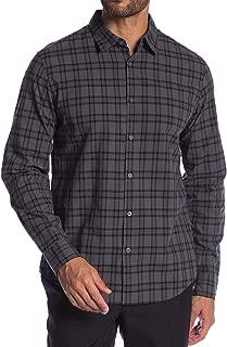 John Varvatos Star USA Men's Long Sleeve Plaid Woven Button Front Shirt