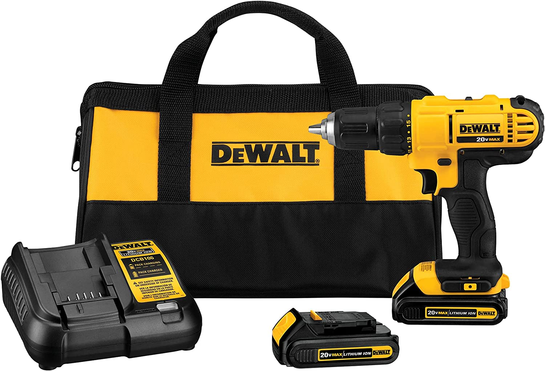 Dewalt DCD771C2 Compact Drill, Cordless Driver Kit