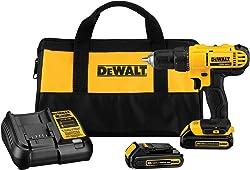 DEWALT 20V Max Cordless Drill / Driver Kit, Compact, 1/2-Inch