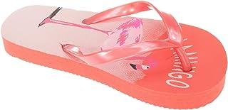 Sandrocks Childrens Girls Flamingo Flip Flops