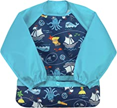 green sprouts Easy-wear Long Sleeve Bib | Waterproof Protection from Mealtime to Playtime..