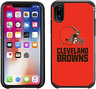 Prime Brands Group Cell Phone Case for Apple iPhone X - NFL Licensed Cleveland Browns Textured Solid Color