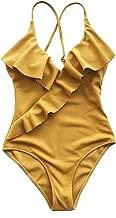 CUPSHE Women's Happy Ending Solid One-Piece Swimsuit Beach Swimwear Bathing Suit