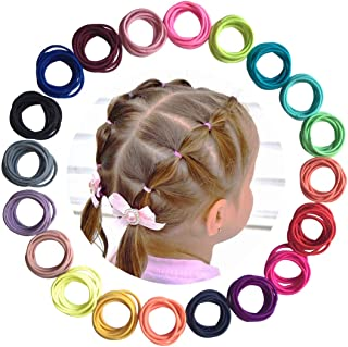 Baby Hair Ties for Girls - 200Pcs Small Elastic Toddler Hair Ties Ponytail Holders Hair Ties for Baby Girls Infants Kids H...