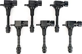 Ignition Coil Pack Set of 6 - Fits Infiniti FX35, G35, M35, Nissan 350Z - Replaces 22448-AL61C, UF401, IGC0007, 6734025, 22448AL615 - Year Models 2003, 2004, 2005, 2006, 2007, 2008-3.5L V6 Coils