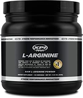 XPI RAW L-Arginine Powder(500G), 100 Servings, Non-GMO, Pure L-Arginine Powder