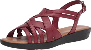 Easy Street womens Sandal,Red,9 XW US