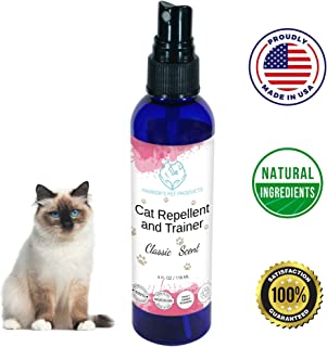 Harbors Cat Repellent and Trainer - Cat Repellent Spray Indoor - 4 oz | Cat Training Spray | Cat Repellent for Furniture | Cat Repellent for Plant | 100% Satisfied or Return for Full Refund