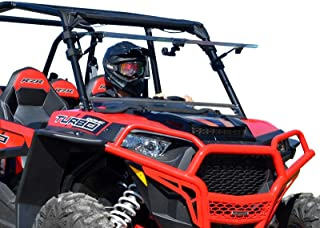 SuperATV Heavy Duty Scratch Resistant 3-IN-1 Flip Windshield for Polaris RZR XP 1000 / XP 4 1000 with Ride Command (2014-2018) - Has 3 Different Settings!