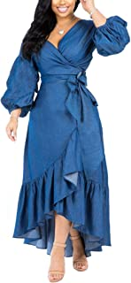 Antique Style Women's Summer Off Shoulder Wrapped Stringy Selvedge Party Club Maxi Dress