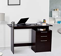 Deckup Turrano Office Table and Study Desk (Dark Wenge, Matte Finish)