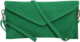 Jieway Women's Faux Suede Evening Clutch Bag Crossbody Bag Shoulder Handbag