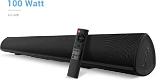 100Watt 40 Inch Soundbar, BYL Sound Bar Wireless and Wired Audio Bluetooth 5.0 TV Speakers with IR Remote Function (2019 Beef Up Version, 60 Days Home Trial)