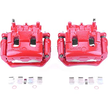 Power Stop S5296A Front Red Powder Coated Performance Caliper Set