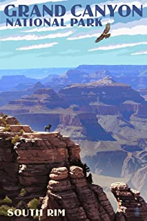 Grand Canyon National Park, Arizona - South Rim (9x12 Art Print, Wall Decor Travel Poster)