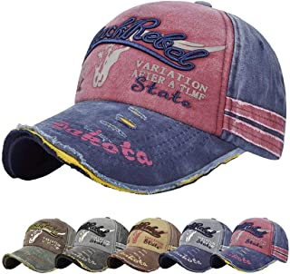 CMTOP Cap Summer Cap Vintage Cotton Baseball Cap Unisex Distressed Snapback Trucker Hat Unisex Baseball Cap Adjustable Run...
