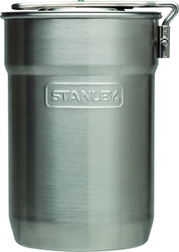 Stanley Adventure Camp Cook Set - 24oz Kettle with 2 Cups - Stainless Steel Camping Cookware with Vented Lids & Folda...