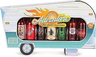 Modern Gourmet Foods - Scharfe Saucen Geschenk-Set - Hot Sauce Camper Probier-Set Mit 7 Pikanten Chili-Saucen