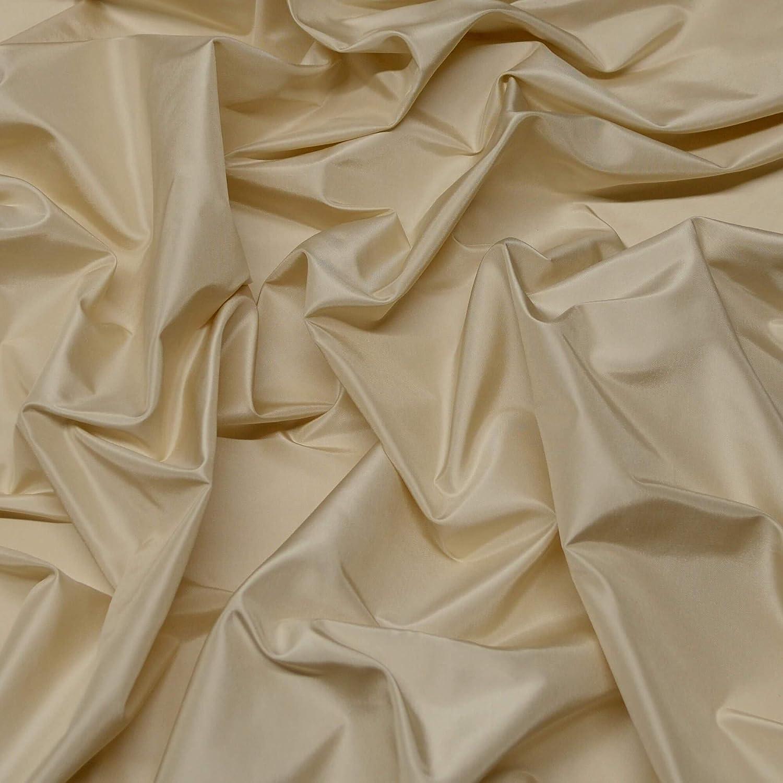 Ecru White Silk Taffeta 100% service Oakland Mall Fabric by Yard 54