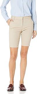 Women's Juniors Uniform Skinny Bermuda Stretch Twill Short