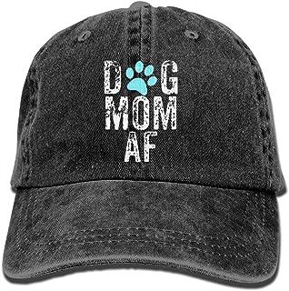 CAPADANA Mens Cotton Washed Twill Baseball Cap Dog Mom AF Hat